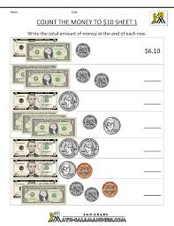 5th Grade Math Worksheets Online Printable Money Worksheets To 10