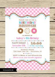 birthday brunch invitation girl birthday party brunch invitation donuts brunch by leeandloe