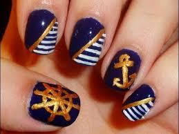 nautical themed nail art youtube