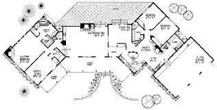 split bedroom floor plans adobe southwestern style house plan 4 beds 3 00 baths 3144 sq