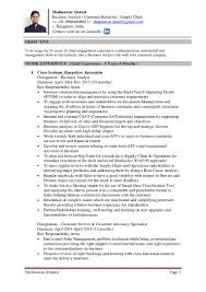 Supply Chain Resume Sample by Resume Of Shahnawaz Ahmed Supply Chain Customer Service Mba