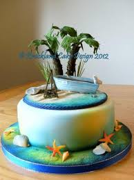 Tropical Theme Birthday Cake - wedding cakes norfolk breckland cake design birthday cakes
