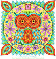 owl coloring page from thaneeya mcardle u0027s groovy owls coloring