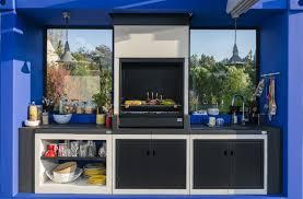 cuisine exterieure beton une cuisine extérieure avec barbecue en béton leroy merlin
