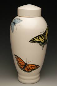butterfly urn painted butterfly urn memorial urns