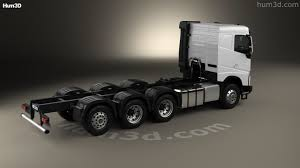 volvo commercial 2016 360 view of volvo fh chassis truck 4 axle 2016 3d model hum3d store