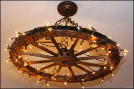 Wagon Wheel Lighting Fixtures Wagon Wheel Chandelier Light Fixture Easy I Loved This