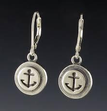 anchor earrings equestrian jewelry anchor earrings drop archer gallery