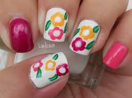 nail art 32 remarkable easy flower nail art images ideas easy