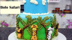 Fabuloso Como Fazer um lindo bolo Safari - YouTube &CC32