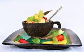 cuisiner les c es frais taboulé vanillé aux fruits frais ma cuisine bleu combava