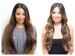 hair highlighted in front brunette hair color rehab