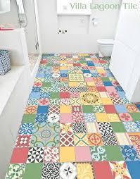 Colorful Bathroom Tile Eliz Idea For Laundry Floor Love Havana Cantina Cement Tile