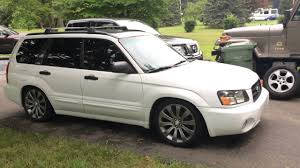 subaru forester lowered first car lowered 2004 subaru forester walk around youtube