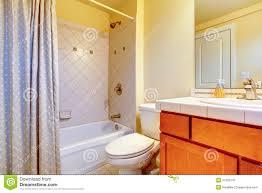 cozy light yellow bathroom stock image image 37362341