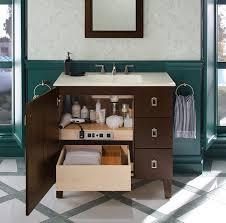 custom bathroom vanity cabinets vanity kohler bathroom get the look classic featuring in cabinets
