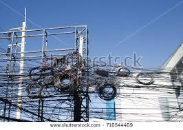 Messy Wires Messy Cables Pole Stock Images Royalty Free Images U0026 Vectors