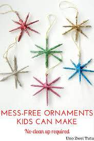 sparkling ornaments can make a mess free craft