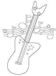 large guitar coloring page large guitar coloring page kids coloring coloring pages guitar