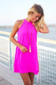 hot pink dress hot pink scalloped dress dresses saved by the dress