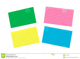 colored writing paper different colored blank index cards isolated royalty free stock royalty free stock photo
