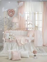 baby nursery petal pink white cream and gold glenna jean