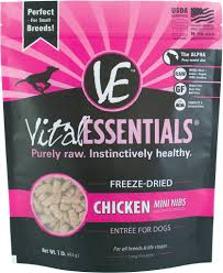 Entree by Vital Essentials Chicken Entree Mini Nibs Grain Free Freeze Dried