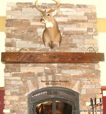 rustic wood fireplace mantel michigan mantel ideas pinterest