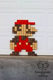 diy giant pixel mario wall art handmade with ashley