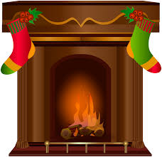 christmas fireplace transparent png clip art gallery