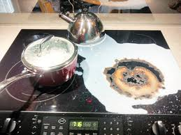 Cleaning Ceramic Glass Cooktop How To Clean Burnt Milk Off A Glass Cooktop Dishwasher Required