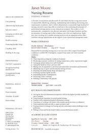 resume templates for nurses resume templates sle 13 nursing cv template