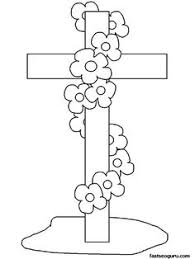 easter cross coloring pages easter pinterest easter cross