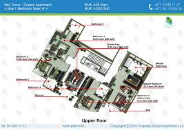 sqm to sqft duplex 4 plus 1 bedrooms type a1 i 428 sqft floor plan rak tower