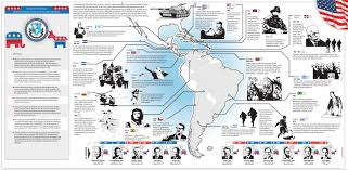 Eastern Half Of United States Map by Half A Century Of U S Interventions In Latin America In One Map
