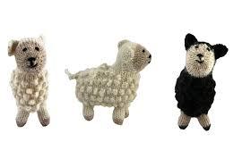 white or black alpaca sheep ornament peru global