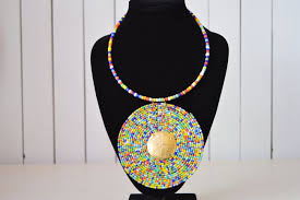 beaded pendant necklace designs images African maasai beaded necklace discovered shop beyond fairtrade jpg