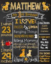 birthday chalkboard birthday chalkboard lion king theme