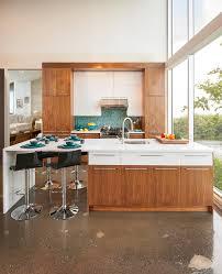 cuisine bois design années 70 cuisine bois thermoplastique quartz