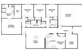 floor plans for 5 bedroom homes 5 bedroom 4 bath house plans 5 bedroom home design single story 5