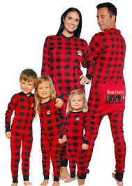 plaid cheeks flapjack pajamas onesies plaid and holidays