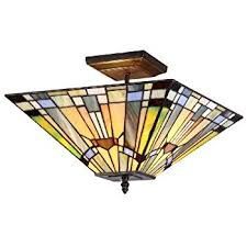 Stained Glass Ceiling Light Amora Lighting Am1081hl12 Style Stained Glass Ceiling