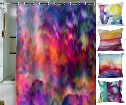 Bathroom Shower Curtain Ideas Elegant Colorful Printed Shower Curtain Draping Ideas Trends4us Com