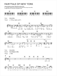 fairytale of new york sheet music by the pogues u0026 kirsty maccoll