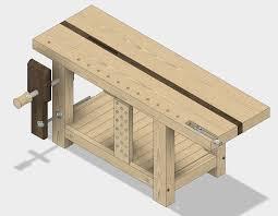 twk split top roubo workbench intro design the wood small split