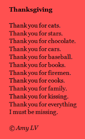 a list poem about gratitude from ludwig s the poem farm
