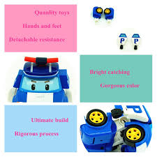 4pcs robocar transformation toys