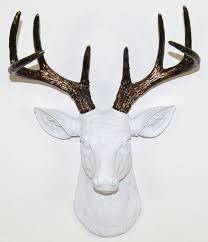 Deer Wall Decor White Deer Head Decor Ideas Exist Decor