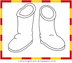 coloring pages printable for kids boots coloring pages