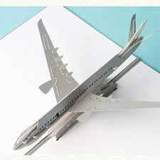 Design Birthday Cards Online Free 3d Handmade Pop Up Greeting Cards Plane Design Thank You Cards